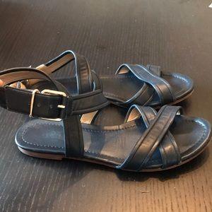 Jcrew Navy leather sandals